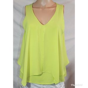 Tyche Green Sleeveless Blouse